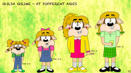 Gilda Grime at Different Ages by PhoenixOfGrunvale