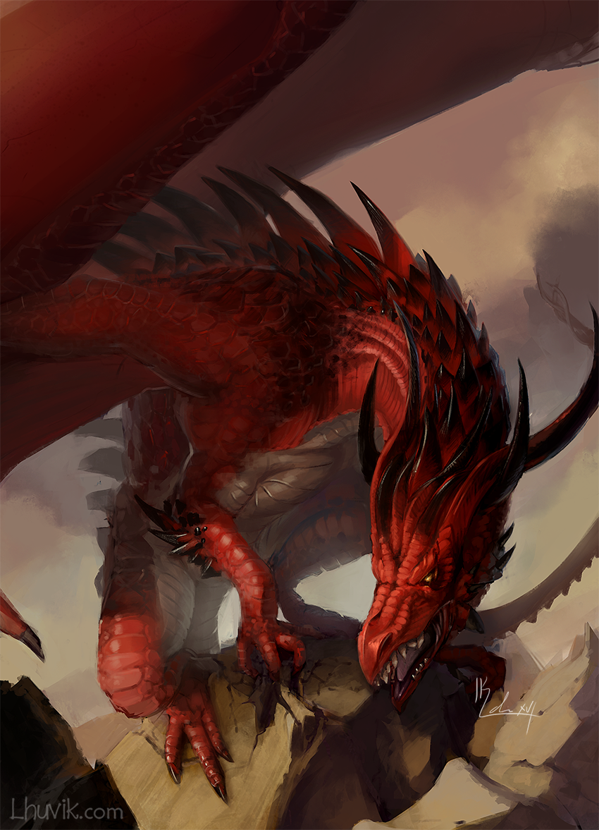 Red Dragon by LhuvIk on DeviantArt
