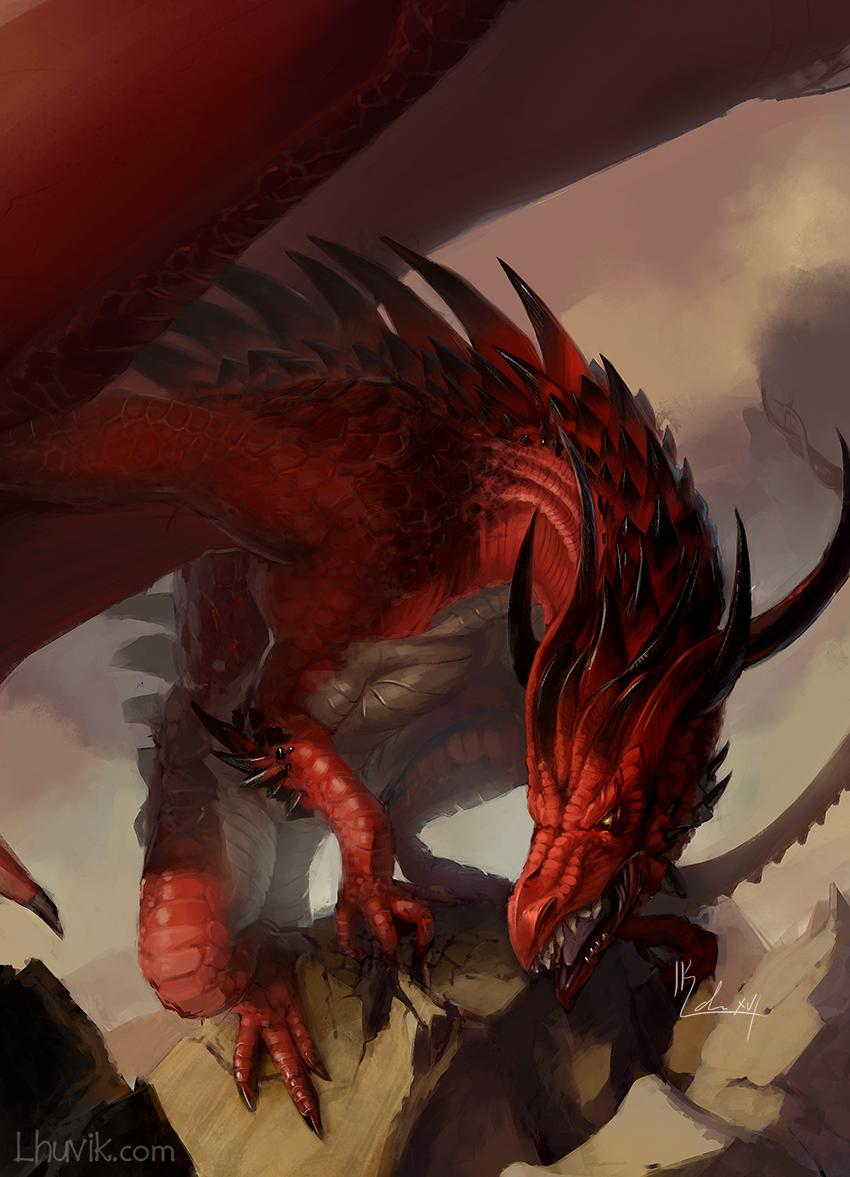 Red Dragon by LhuvIk on DeviantArt