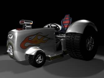 Racing Lawnmower by DDeVoe