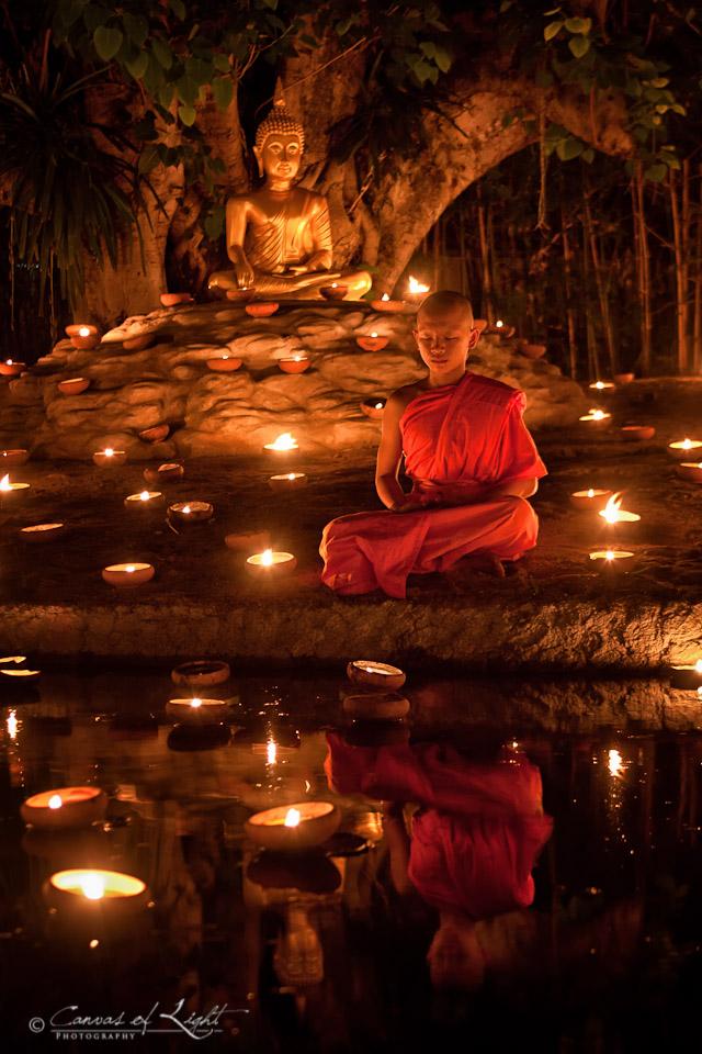 Buddhist Monk Meditating Wallpaper