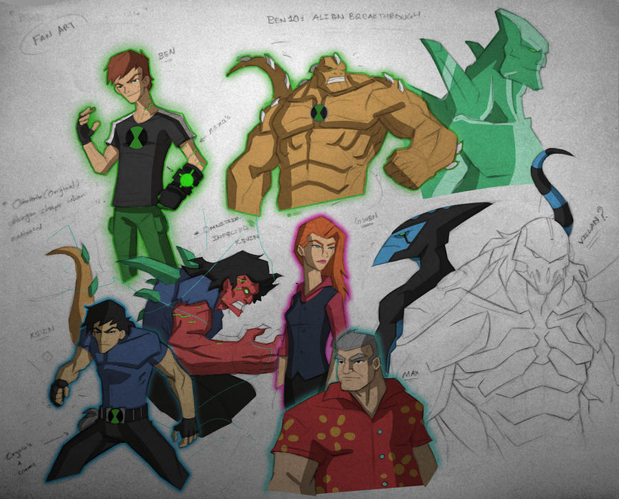 Ben10: Alien Breakthrough {fanart skeches} by TheRedVampx1