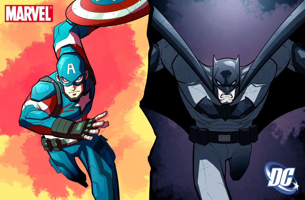war of icons batman v captain america by color reaper on deviantart