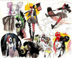 Harley Quinn doodles