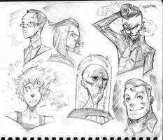 Faces Doodles by COLOR-REAPER