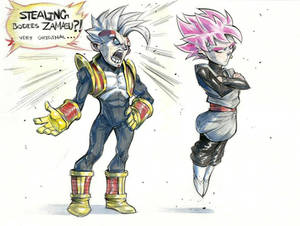Goku Black vs Baby Vegeta