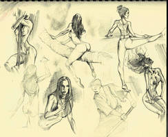 Gesture Doodles by COLOR-REAPER