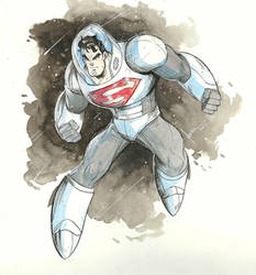 Space Suit Superman   by COLOR-REAPER