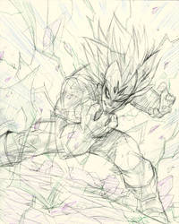Majin Vegeta  by COLOR-REAPER
