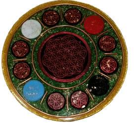 Flower of Life Mandala Plate