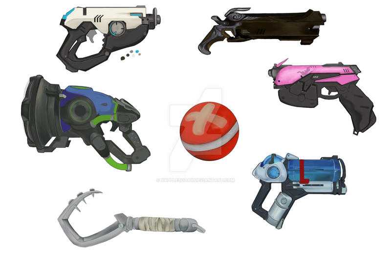 Overwatch weapons by xApplesodax