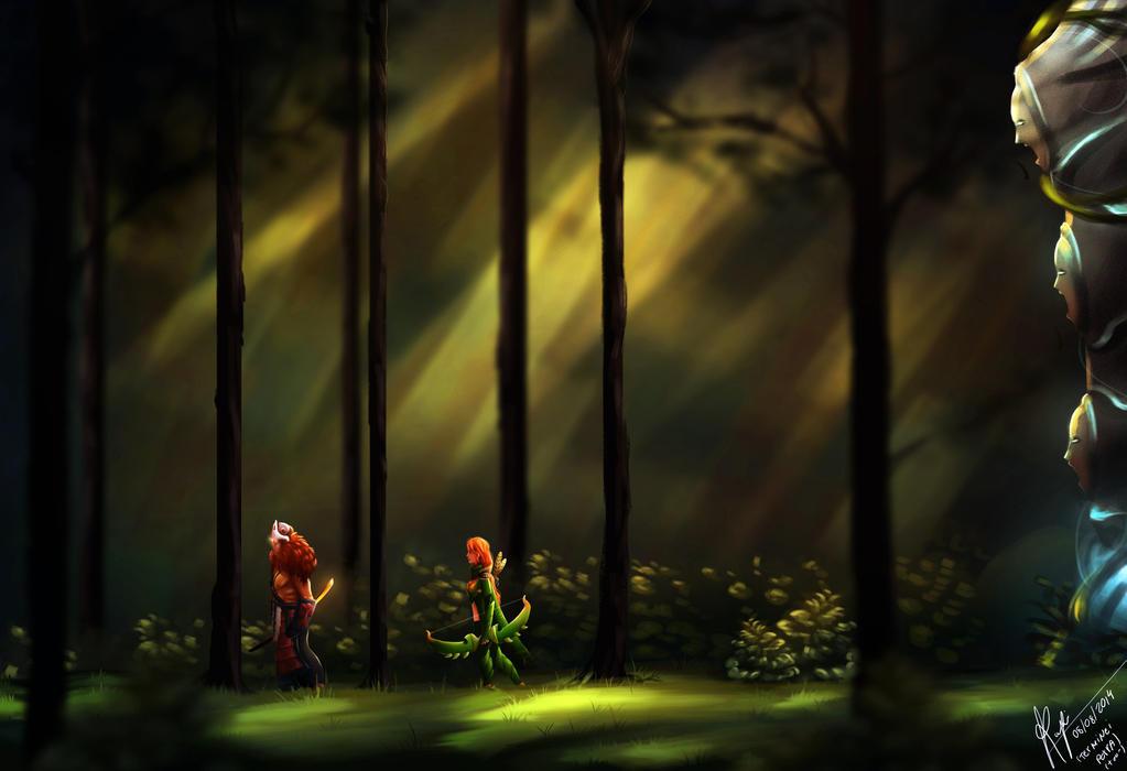 The battle begins - DOTA 2 by WLimit