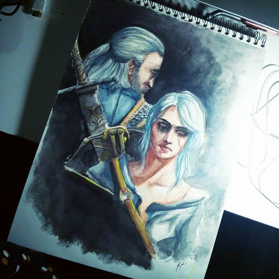 Witcher 3 in Watercolor by WLimit