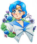 Sailor Mercury Watercolor Painting by WLimit