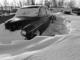 Snowed in Junkyard 5 by deadeye-stock