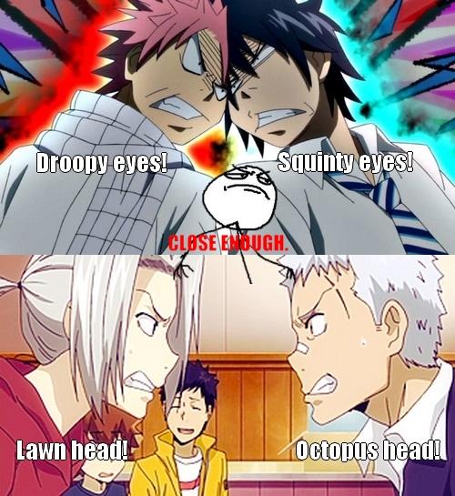 Gray, Natsu, Gokudera and Ryohei by Eroshik