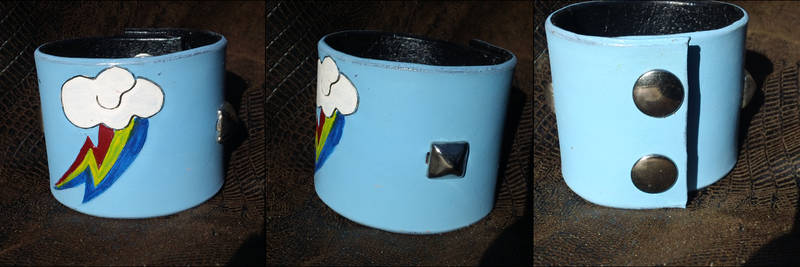 Rainbow Dash MLP Leather Cuff | $12.50 on Etsy!