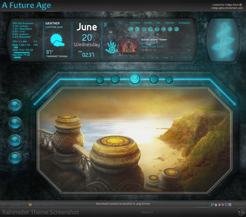 A Future Age - Rainmeter by Indigo-Glow