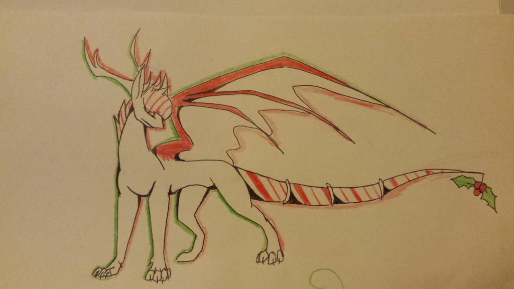Christmas dragon by SolinTheDragon