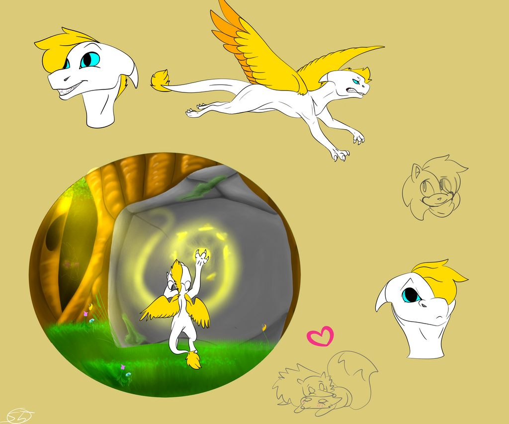 Solin sketches by SolinTheDragon