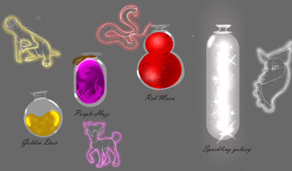 Potion Bottles Practice by SolinTheDragon
