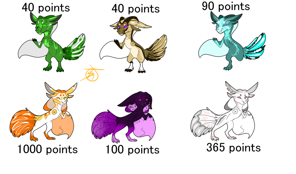 Opy-pio Adoption Set 1 by SolinTheDragon