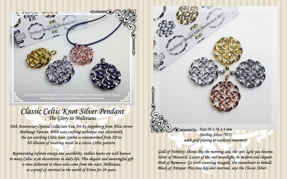 Classic Celtic Knot Silver Pendant