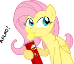 Flutershy in: Pringles Product Placement COLORED