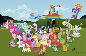 All the Pretty Horses COLORED by Drewdini