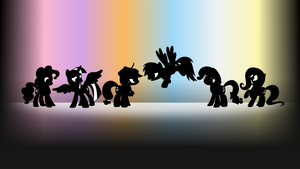 Wallpaper - Dem Six Pones by Drewdini