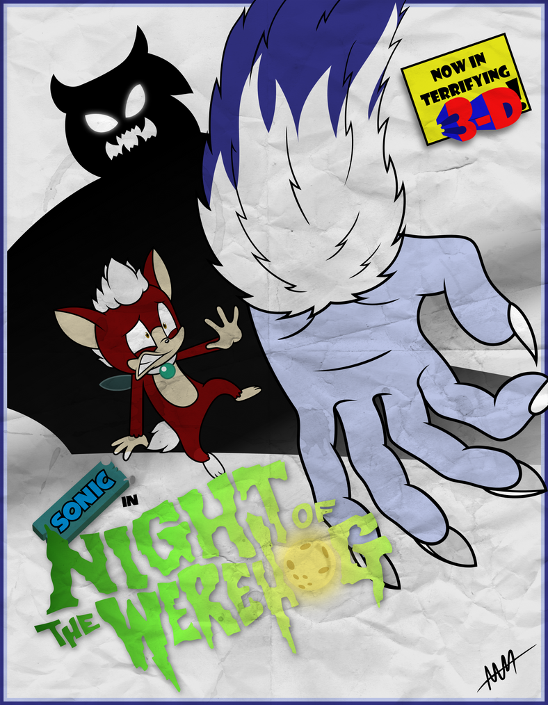Night of the Werehog Monster Movie Poster by Drewdini