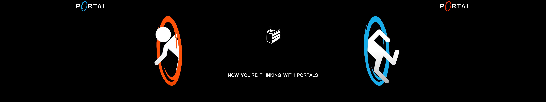 portal three monitors eyefinity by starla4 on deviantart