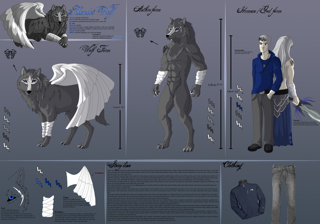 ThunderWolf's Ref by Wol4ica