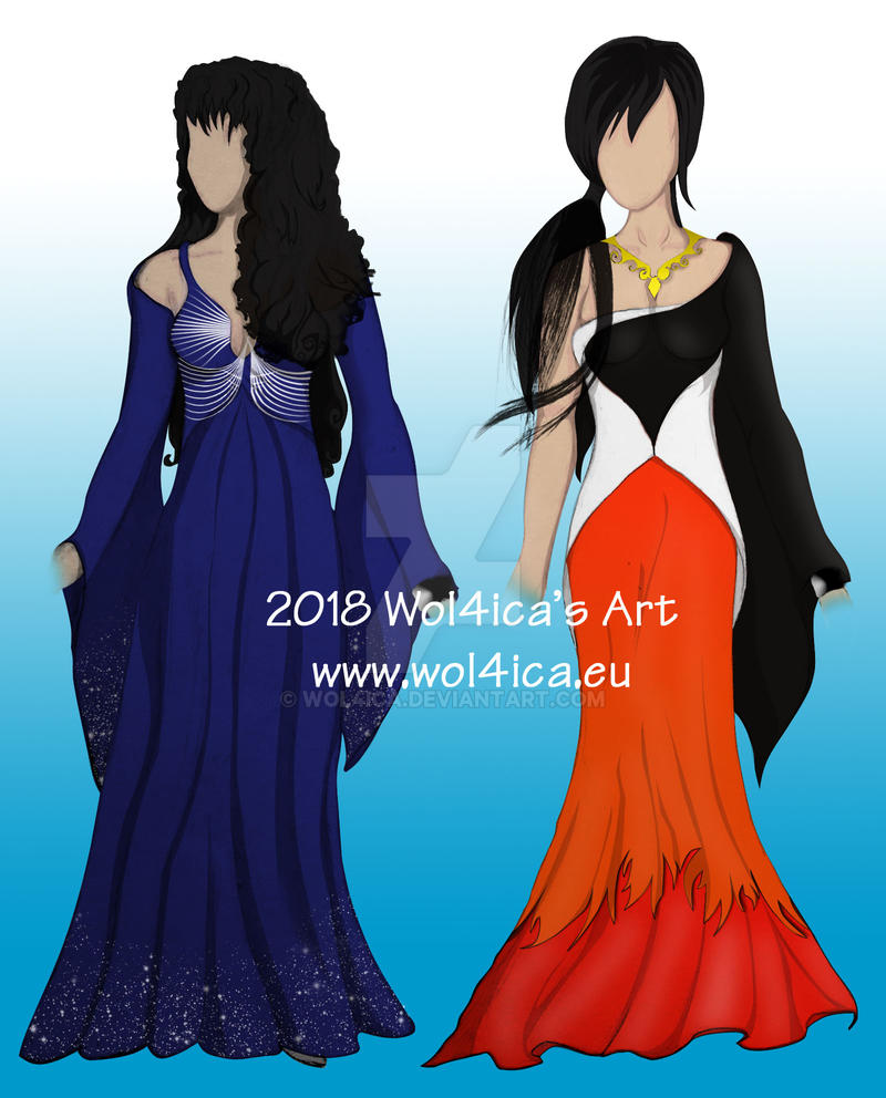 Illustrative dresses - ASTONE WORLD by Wol4ica