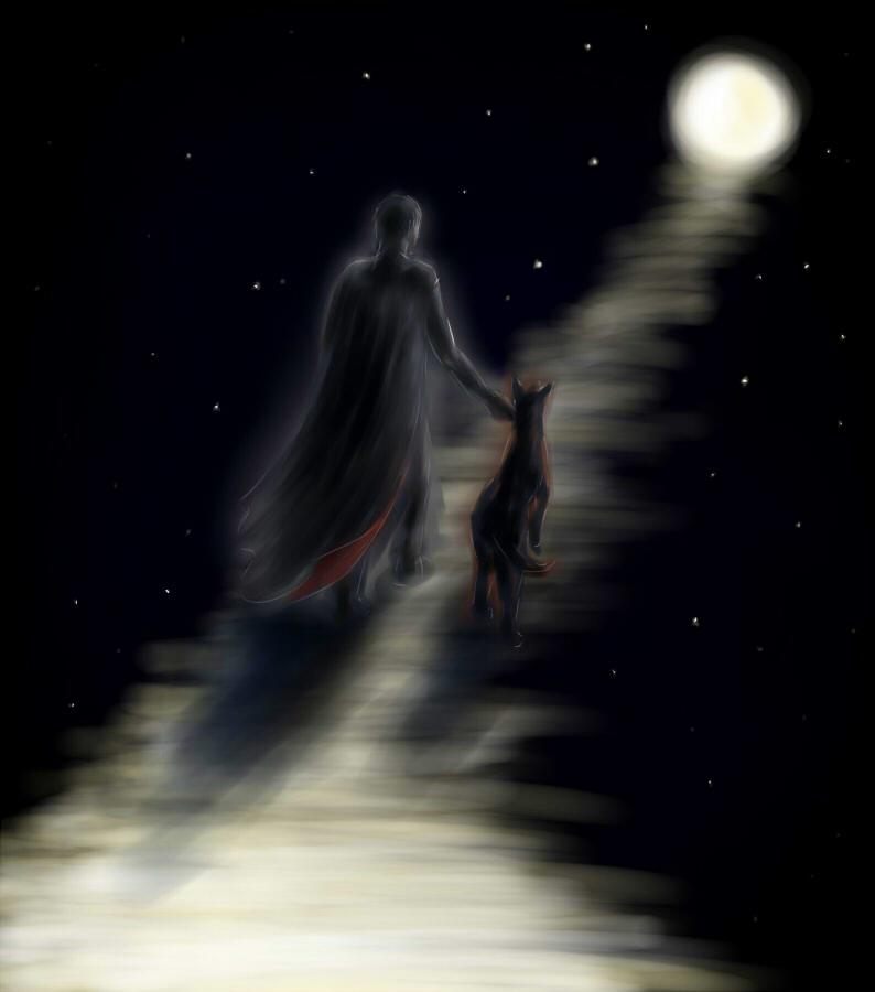 Following the Lunar Path by Gengakutaku