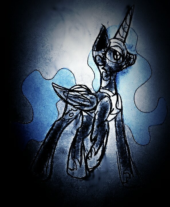 Nightmare Moon Sketch by iLucky7