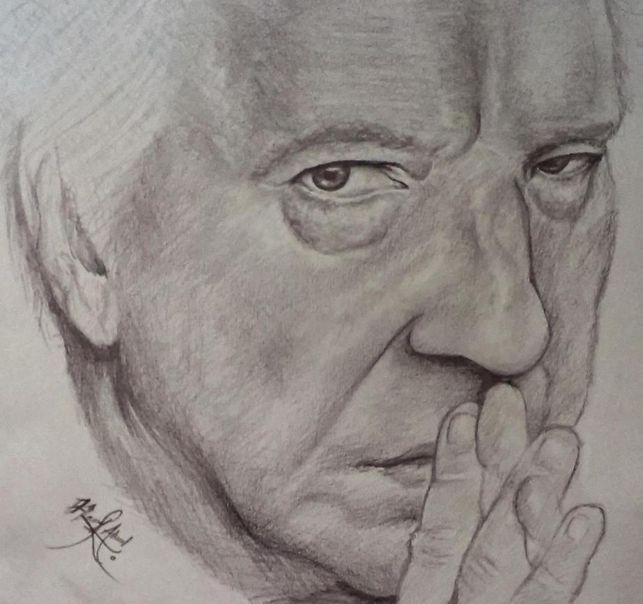 Alan Rickman Snape by hamzfahmed