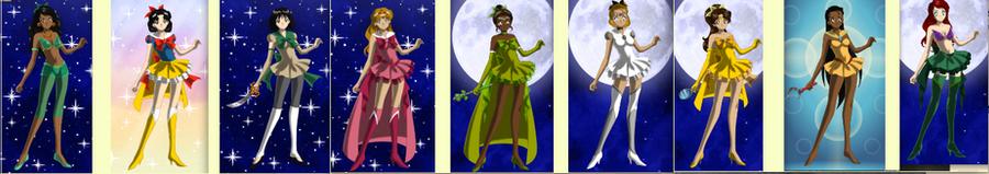 Disney's Princess Sailor moon style by mgcat989