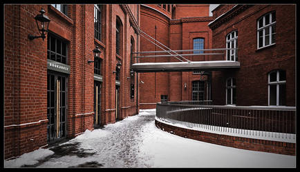Old Brewery in winter view. by ink-gp