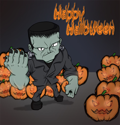 Happy Halloween Frankenstein by KajiMateria on DeviantArt