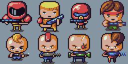 Mercenery Squad - characters