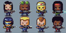 Mercenery Squad - characters 2