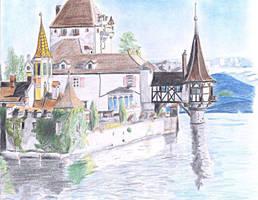 Oberhofen castle by jbdevart