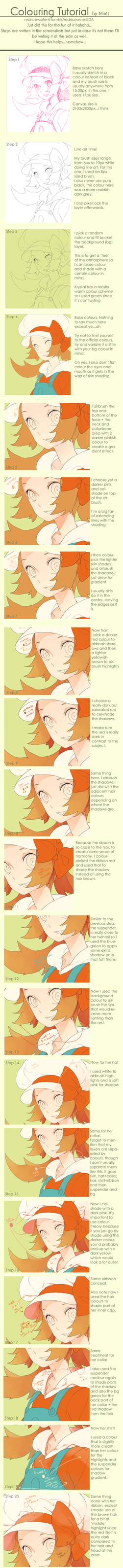 Colouring Tutorial Part 1 by redricewine