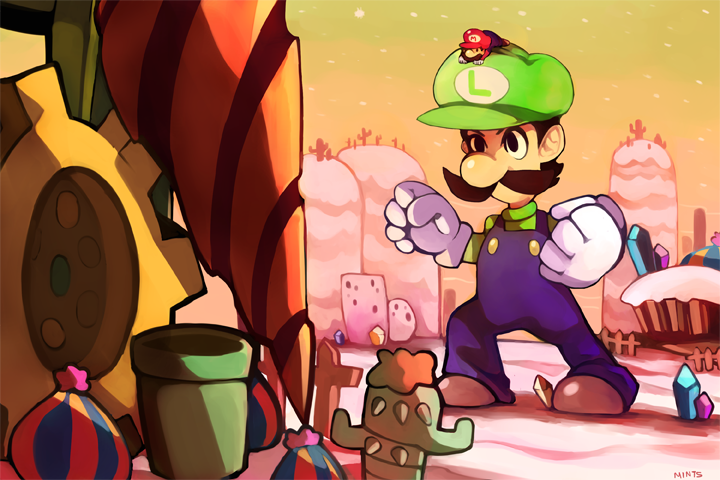 Giant Luigi vs Drilldigger by redricewine