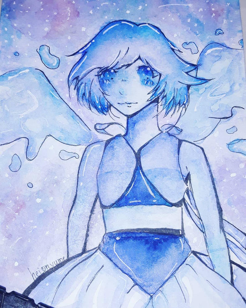 Fanart of Lapis Lazuli from Steven Universe ! So much work on it ; /// ; And finally done my gosh ! 0 - 0 HeionYume is actually my Instagram art account :3