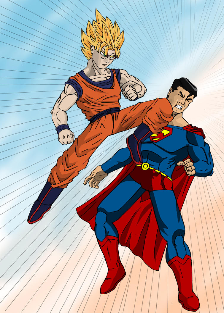 Goku vs Superman by Stark-liverbird on DeviantArt
