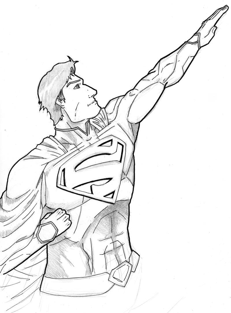 new 52 superman sketch by stark liverbird on deviantart