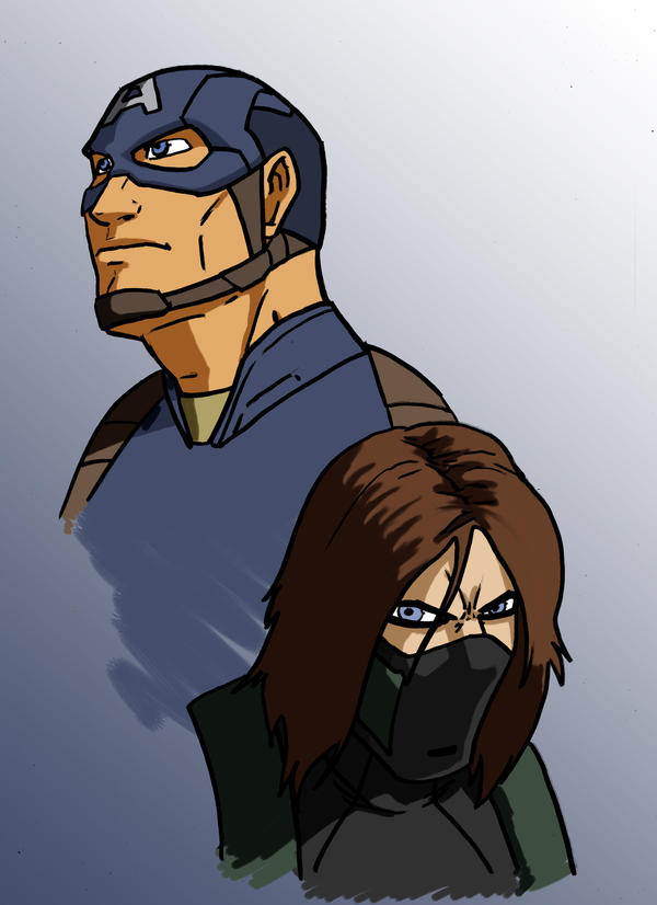 Captain America and the Winter Soldier by Stark-liverbird