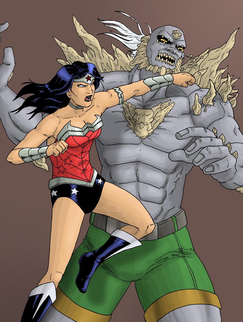 Wonder Woman vs Doomsday by Stark-liverbird
